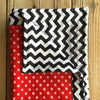 Red Chevron Minky Baby Blanket (30