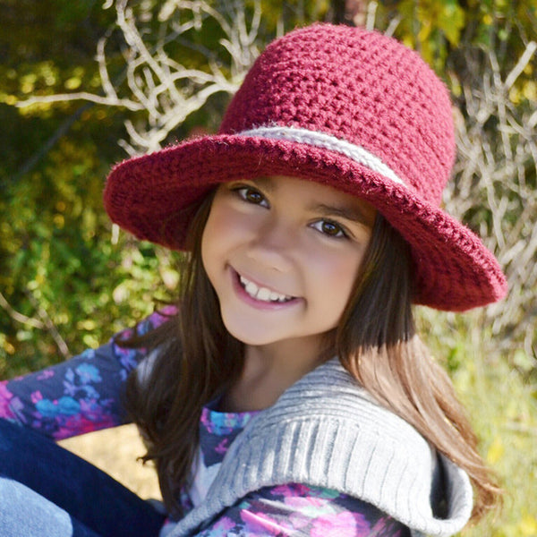 Crocheted Wanderlust Brim Hat - Artizenbox  - 1