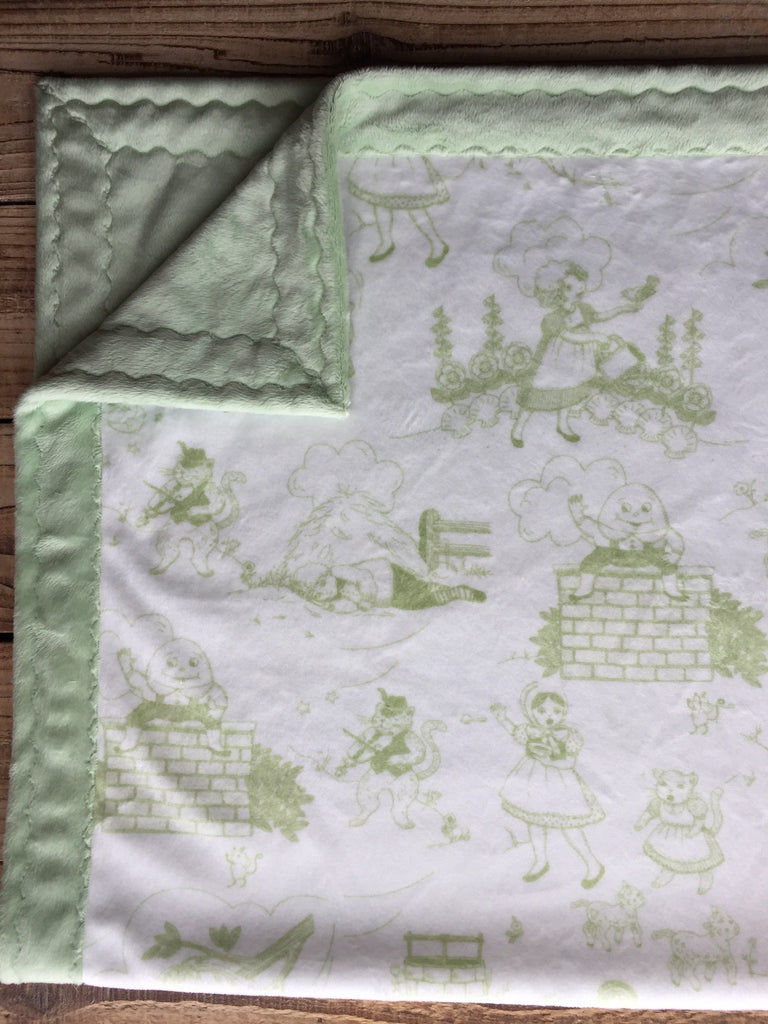 Nursery Rhymes/Sage green - Artizenbox  - 1