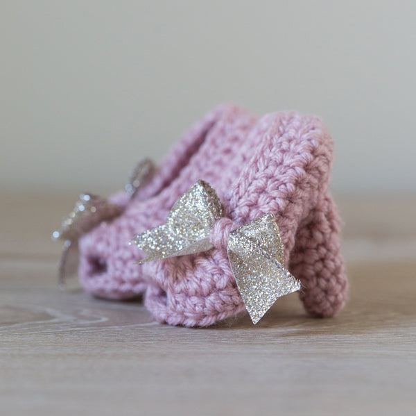 'Gold Rose Water' Peep Toe Pump Baby Booties, Slouch Boots, Newborn Booties, Photo Props, Pregnancy Announcement - Artizenbox  - 1