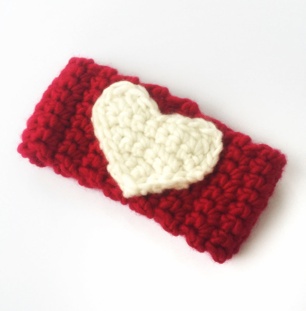 Toddler sized heart headband