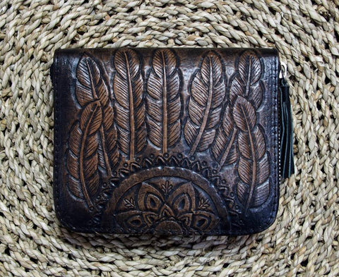 Boho Feather Wallet