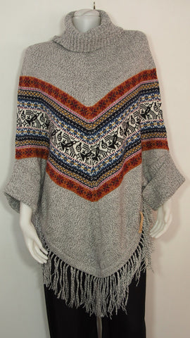 Turtle Neck Sleeve Poncho