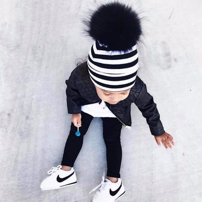 Tuque Coton Enfant | Kid Cotton Beanie ''STRIPE'' - Mpompon