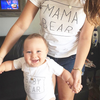 "DUO T-Shirt et Cache-Couche ""MAMA BEAR, BABY BEAR'' - Mpompon"