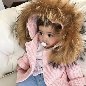 Blouson en Tricot pour Enfant | Knit Jacket for Kid  -  Mpompon