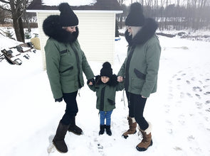 Manteau Parka pour Enfant | Parka Coat for Kid - Kaki  -  Mpompon