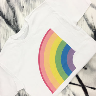 T-Shirt ''RAINBOW'' - Left Side - Mpompon