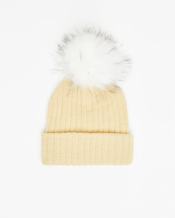 Tuque Adulte Doublée | Adult Knit Beanie LEMON - Vegan - Mpompon