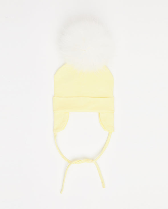 Tuque Coton Bébé | Baby Cotton Beanie LEMON - Mpompon