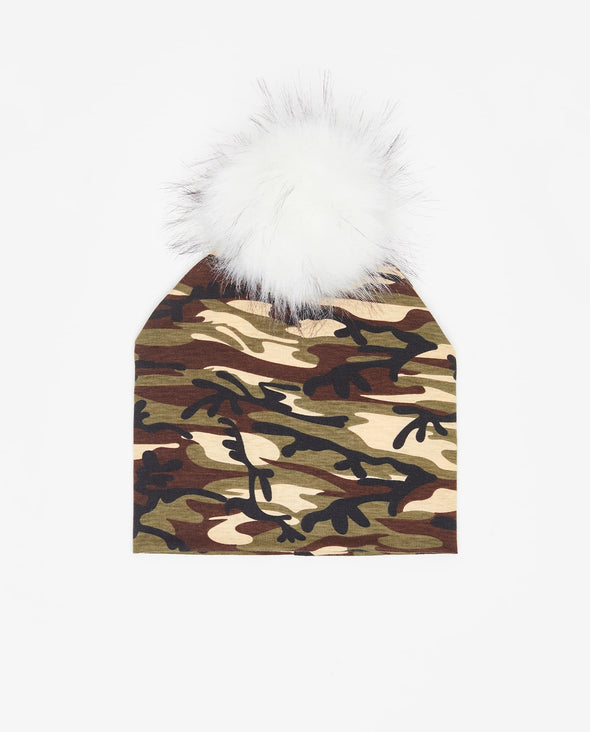 Tuque Pré-Ado Coton | Teen Cotton Beanie ARMY - Vegan - Mpompon