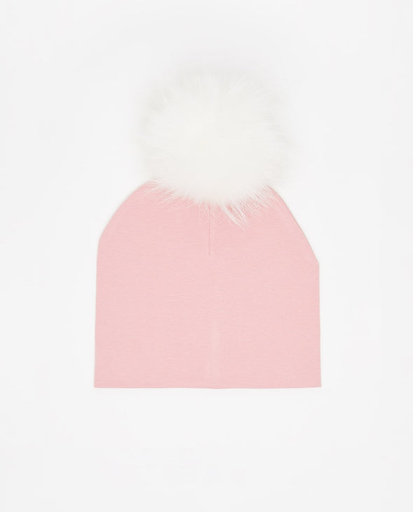 Tuque Enfant Coton | Kid Cotton Beanie MATTE PINK - Mpompon