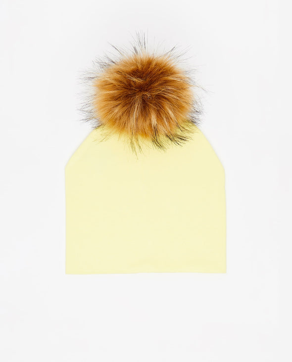 Tuque Adulte Coton | Adult Cotton Beanie LEMON - Vegan - Mpompon