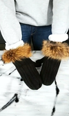 DUO Tuque et Mitaines pour Adulte | DUO Beanie and Mittens for Adult - Fourrure Interchangeable  -  Mpompon