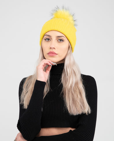 Tuque Adulte Doublée | Adult Knit Beanie SUNNY DAY - Vegan - Mpompon