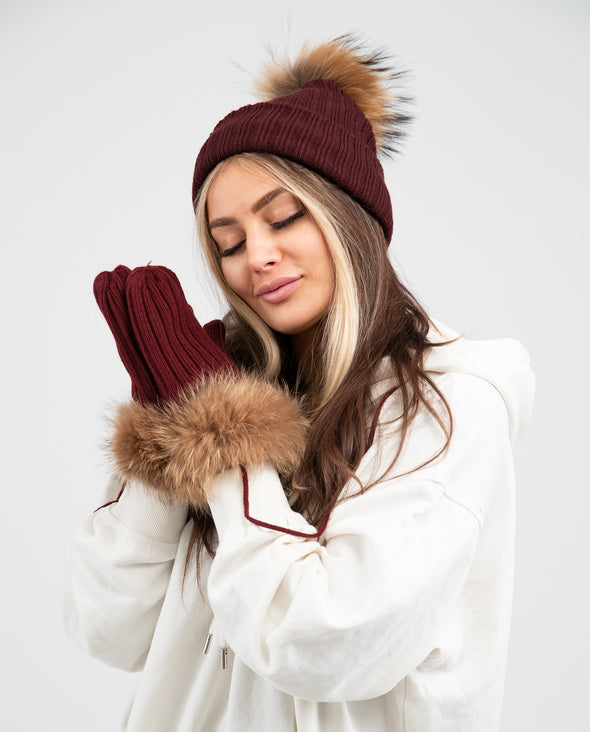 Mitaines Adulte | Adult Mittens BOURGOGNE - Mpompon