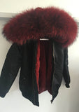 Army Bomber with Fur Hood