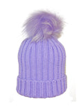 Kids (0-5) Coloured Pom Knit Hat * Lavender