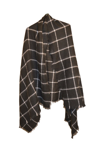 Soft Check Scarf- Black/White