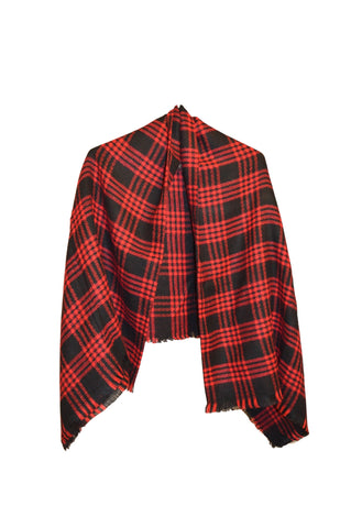 Red & Black Plaid Scarf