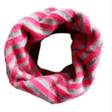 Kids Chunky Striped Circle Scarf