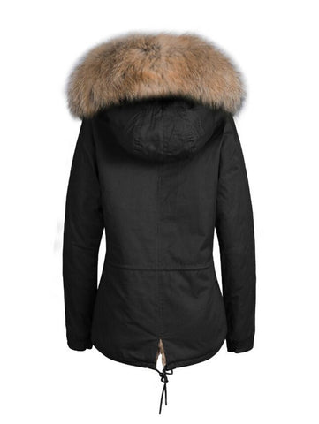Flufff Short Parka with Fur Hood