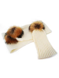 Natural Pom Hat & Scarf Set