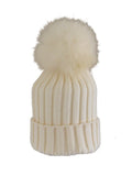 Caramel * Matching Pom * Ribbed Knit Hat