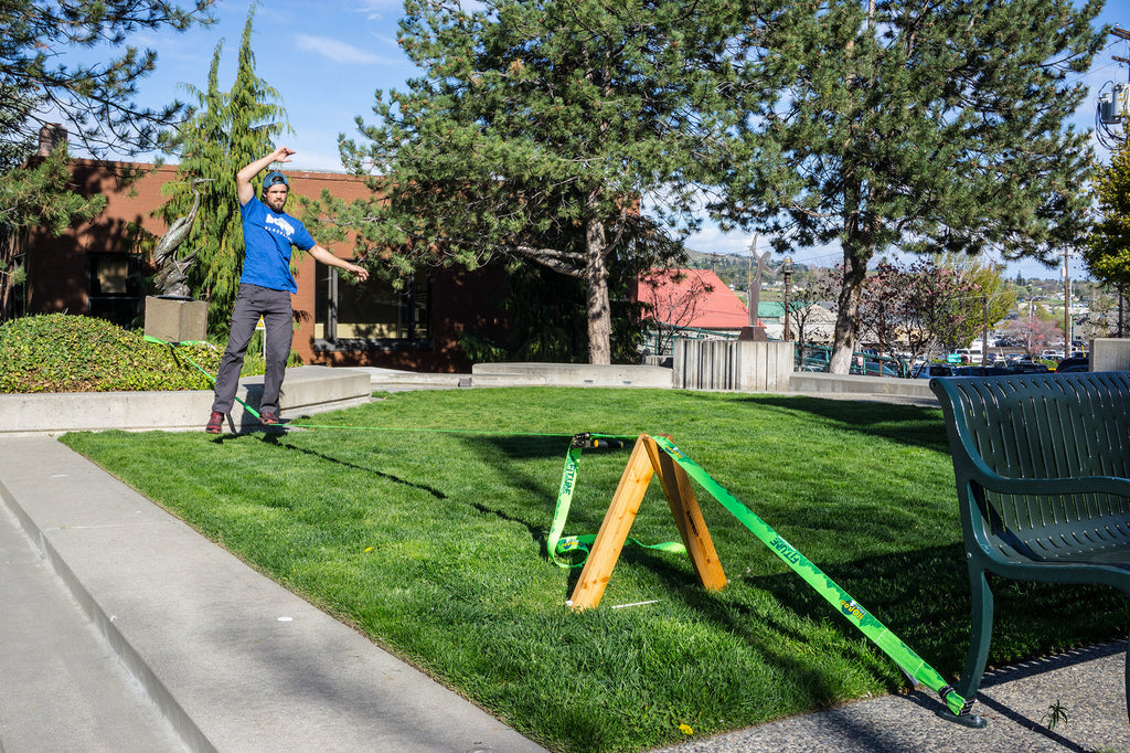 10 Ways to Setup a Slackline without Using a Tree