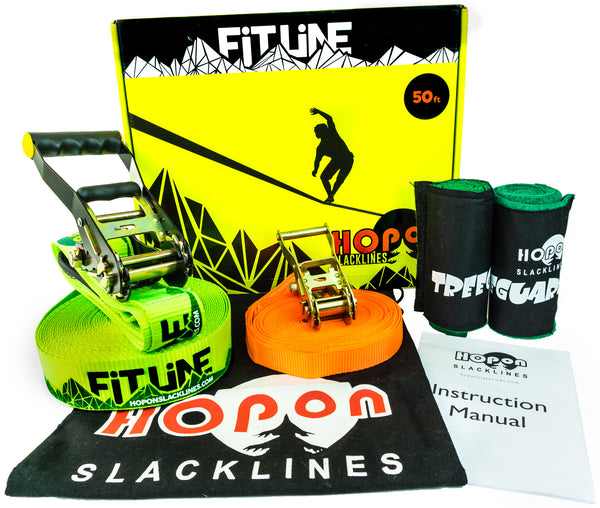 FITLINE - Neon Green - HopOn Slacklines  - 1