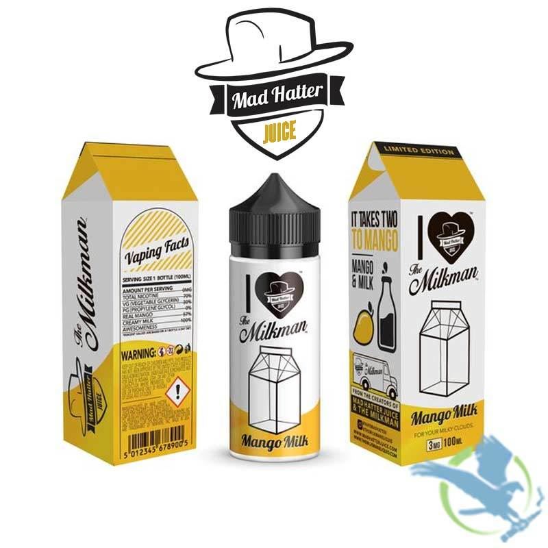 I Love The Milkman By Mad Hatter - Mango Milk 100ML
