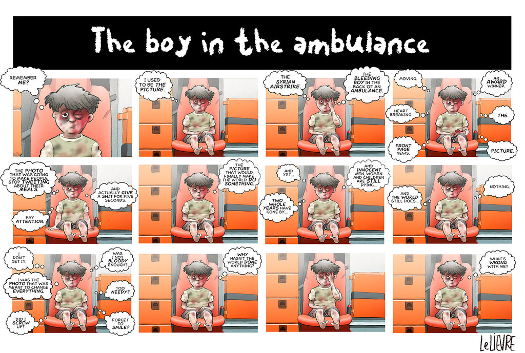 The boy in the ambulance
