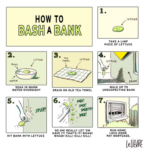 How to bash a bank