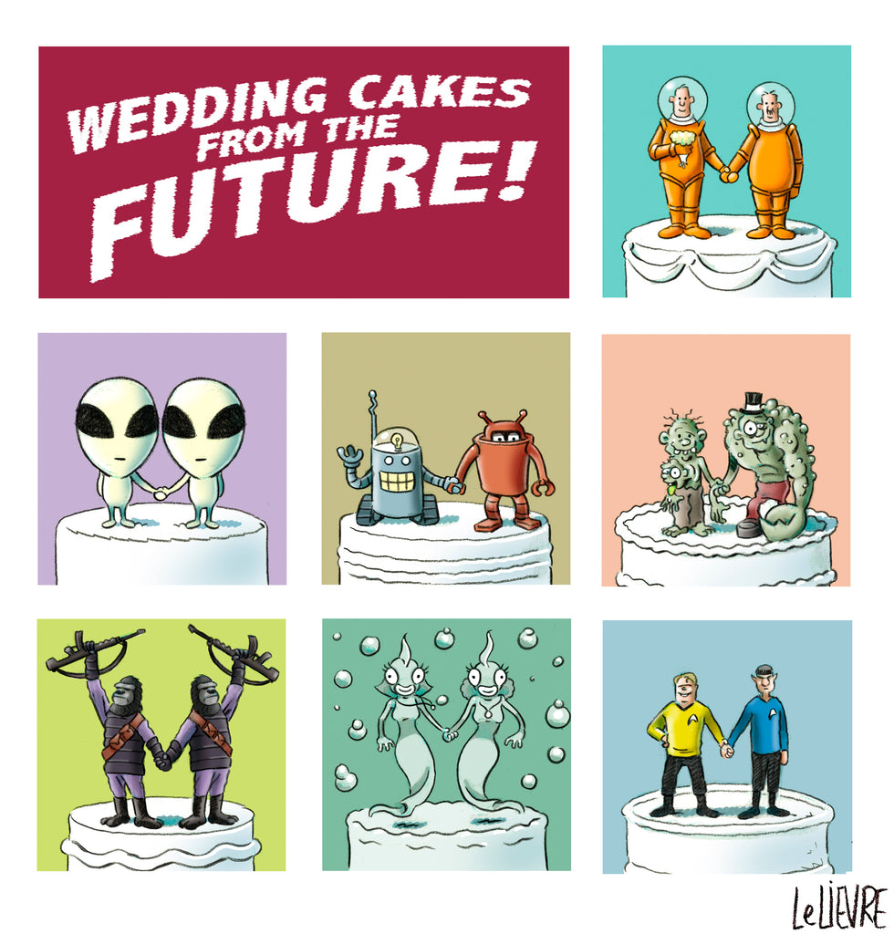 Wedding cakes from the future