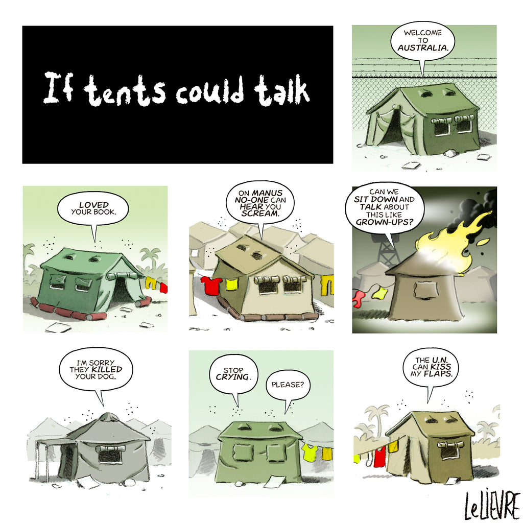 If tents could talk