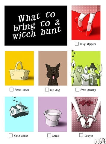 What to bring to a witch hunt