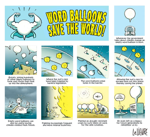 Word balloons save the world