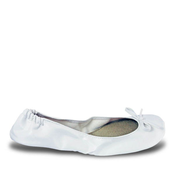 Women's Bendable Ballet Flats - White