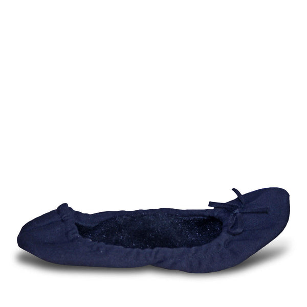 Women's Fleece Bendable Ballet Flats - Navy