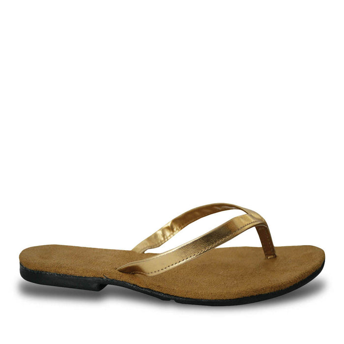 Women's Bendable Flip Flops - Gold