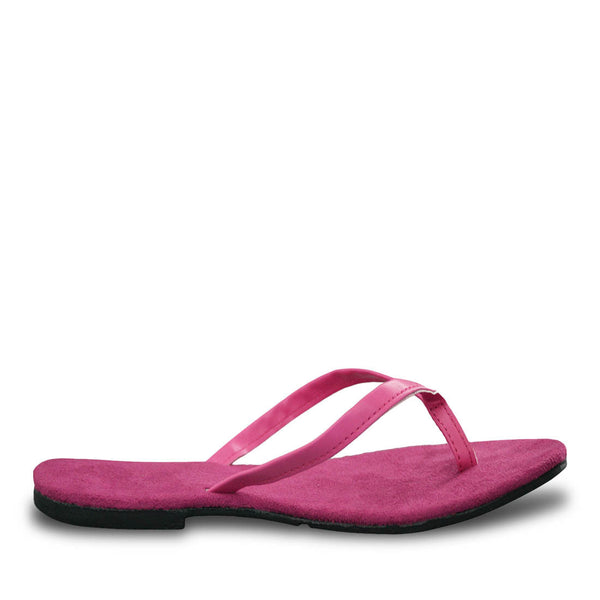 Women's Bendable Flip Flops - Hot Pink