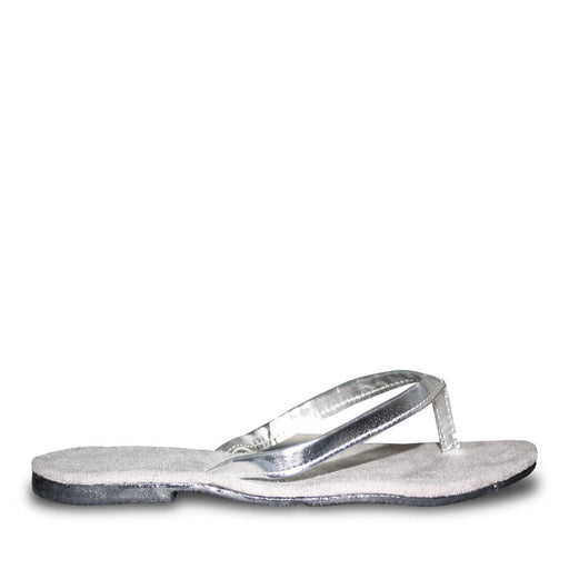 Women's Bendable Flip Flops - Silver