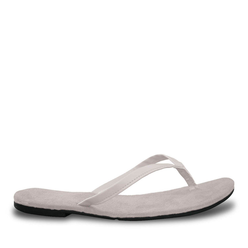 Women's Bendable Flip Flops - White