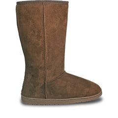 Women's 13-inch Microfiber Boots - Chocolate