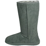 Women's 13-inch Microfiber Boots - Gray