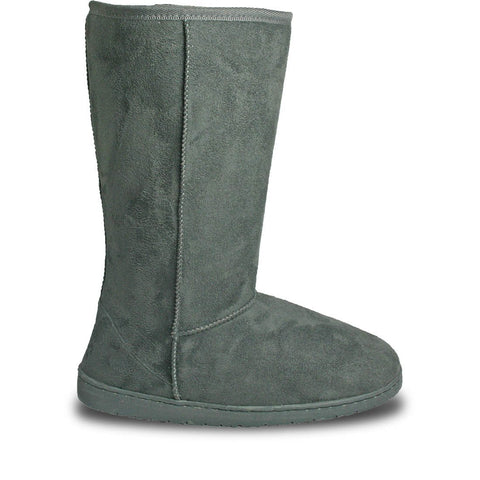 Women's 13-inch Microfiber Boots - Gray (Special Offer)