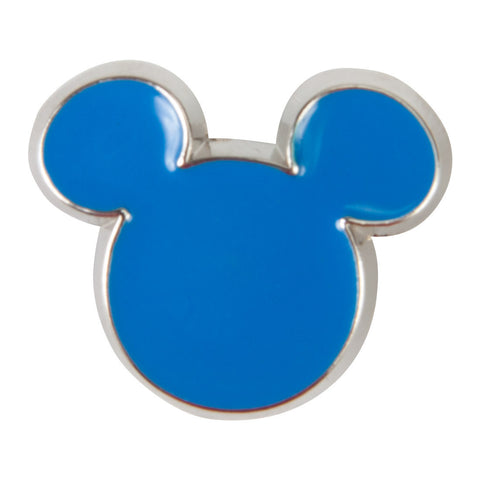 Disney Enamel Dawg Tag Shoe Charm - Blue Mickey (C1054)