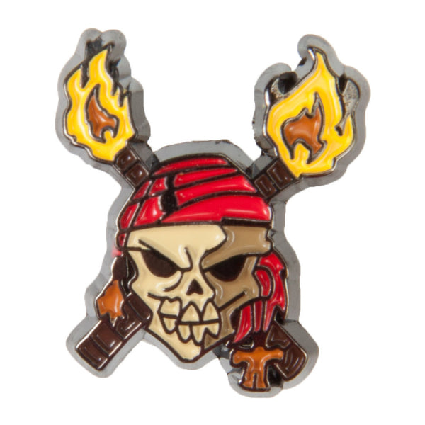 Disney Enamel Dawg Tags Shoe Charms - Skull & Crossed Torches (C1037)