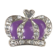C/Z Dawg Tag Shoe Charm - Crown with Crystals