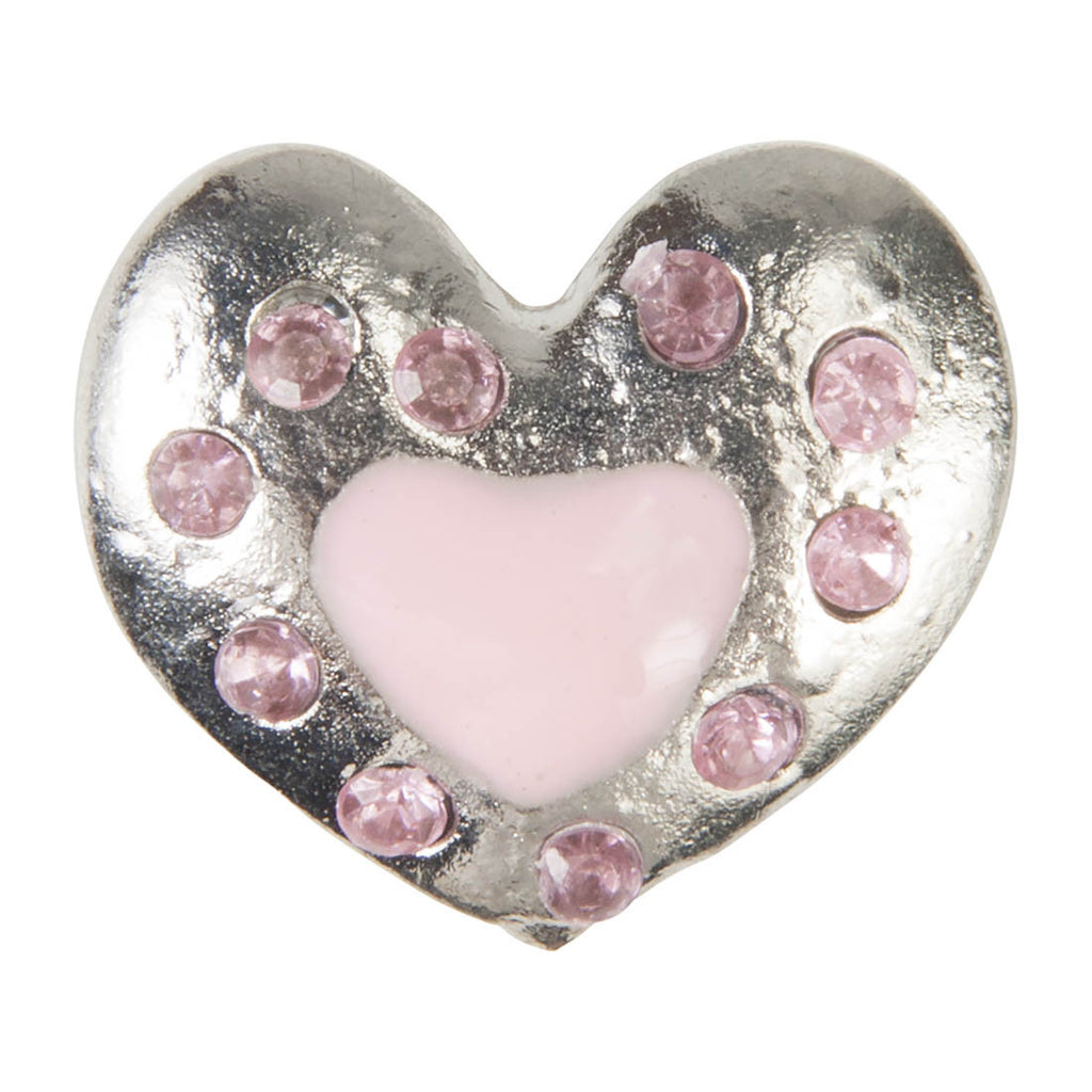C/Z Dawg Tags Shoe Charms - Heart with Crystals